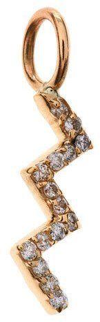 Sarah Chloe Aria Zigzag Diamond Charm