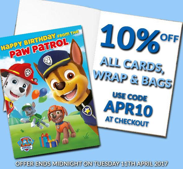 10% Off Official Greetings Cards, Gift Wrap & Gift Bags for Popular Music, Film, TV & Sports Brands till 11th April! > http://bit.ly/DaniloCardsWrap