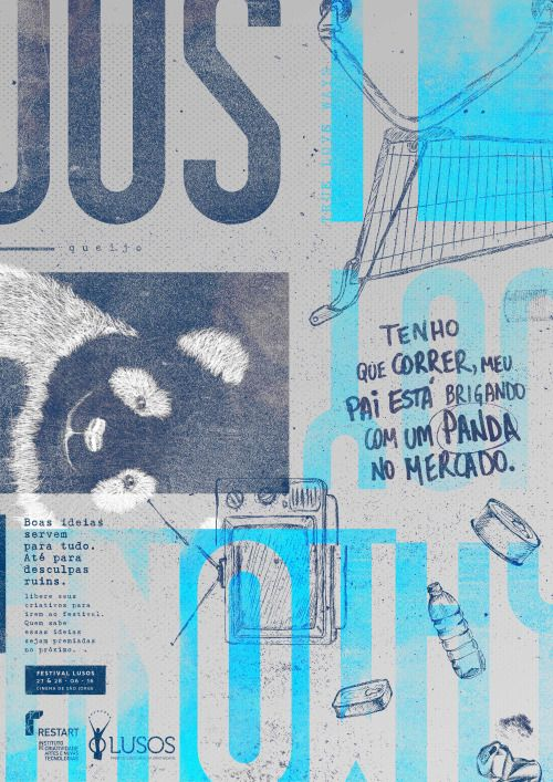 Poster - Panda. Project for Lusos Festival By Dennis Silveira& Leandro Lemos