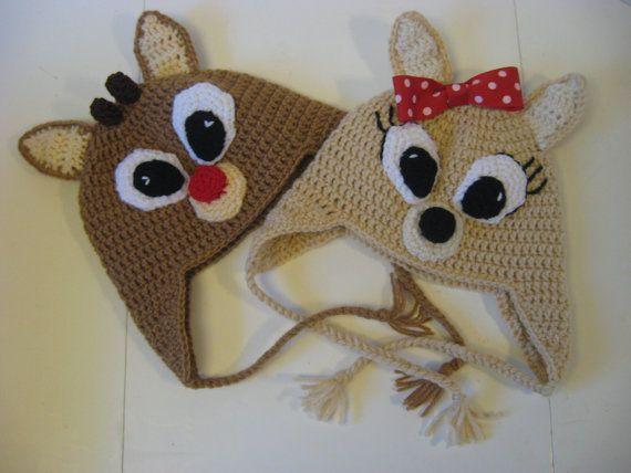 « Rudolph, je pense que vous êtes mignon. » - Clarice Et ces chapeaux de caractère adorable Rudolph et Clarice est trop mignons ! Ils sont un moyen idéal pour ajouter une petite joie des fêtes ! Les tailles sont comme suit : Petit - enfant-4ans Médium - 4 ans - 9 ans. Grand - 9 ans - adolescent  Chapeaux adulte peut être trouvée ici : https://www.etsy.com/listing/166699994/adult-rudoplh-the-red-nosed-reindeer-hat  Cet article est fabriqué sur commande. Veuillez consulter notre annonce de…