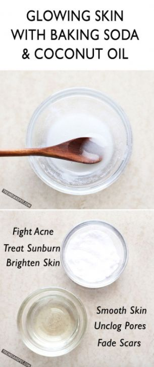 Glowing skin with Baking Soda and Coconut Oil Face…