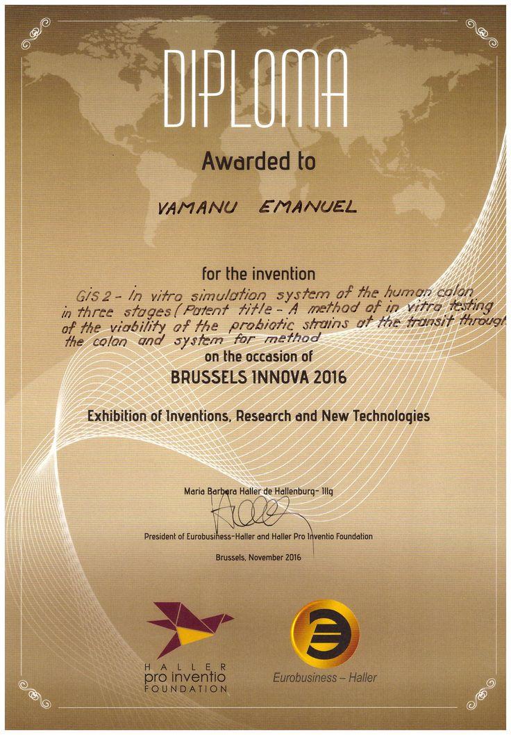 Diploma Premiu Polonia - USAMV Bucuresti