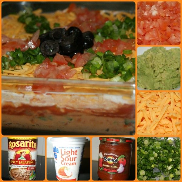 Mexican Style Seven Layered Dip
