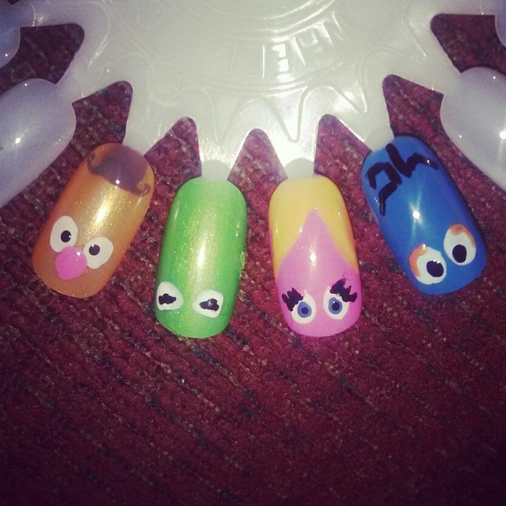 The Muppets nail art by Susie Pieper Fusion Spa & Boutique Evansville, IN