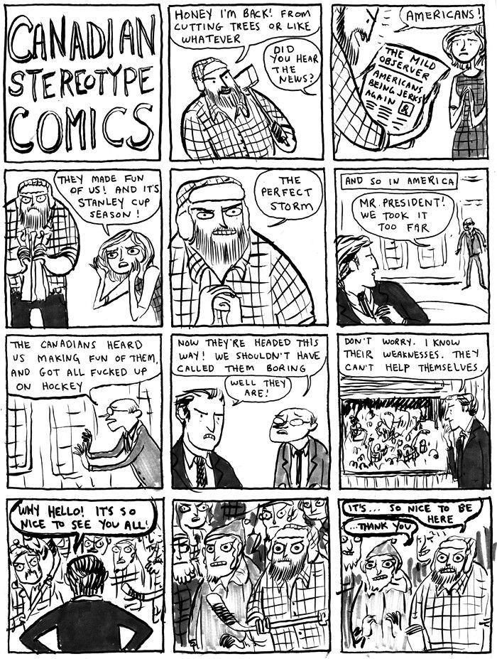 Last one I promise... Kate Beaton - Canadian Stereotype Comics