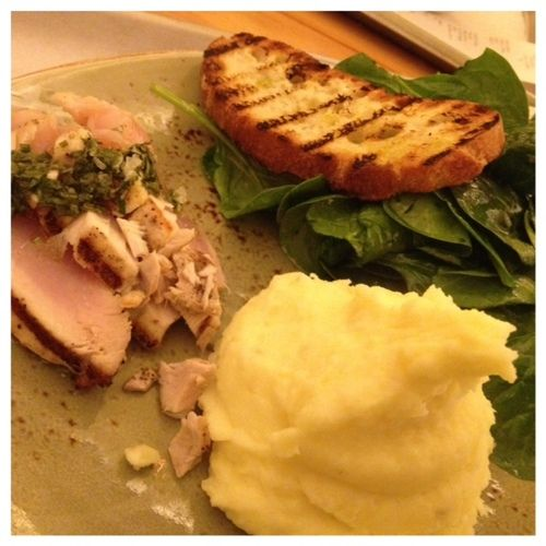 """OC Weekly Stick A Fork In It really loves our mashed potatoes! 100 Favorite Dishes 2013   """"The best thing I had were the mashed potatoes that were the side on a """"hot plate"""" of grilled albacore tuna... as perfect as potatoes come"""" (Photo by Edwin Goei)"""