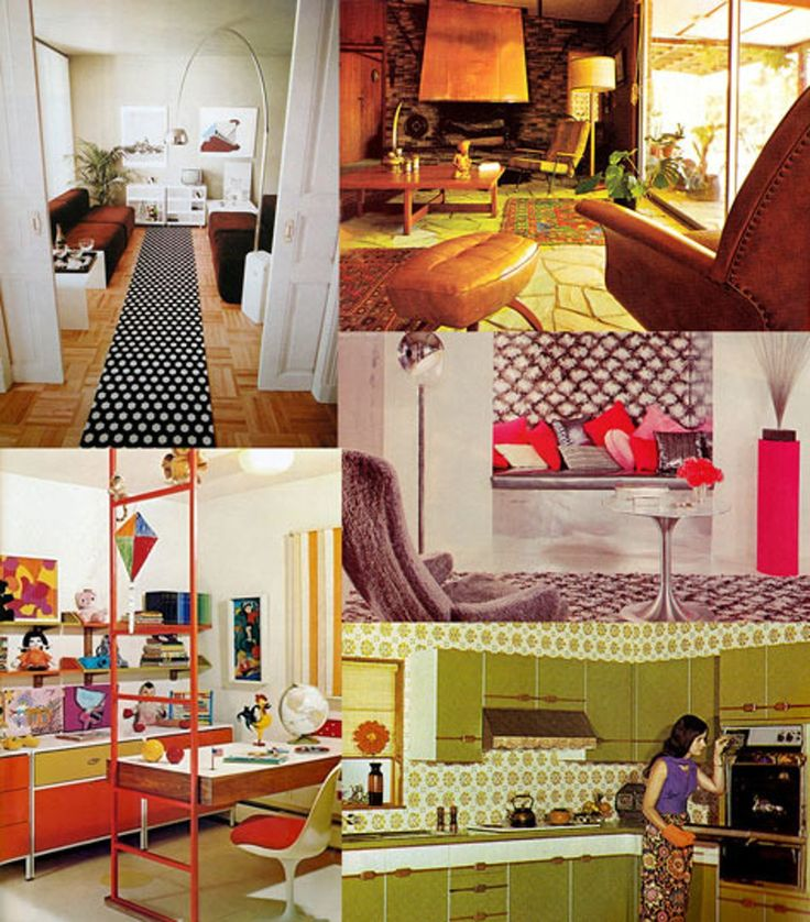 15 Best 1970s Kitchen Color Trends + Glassware Images On