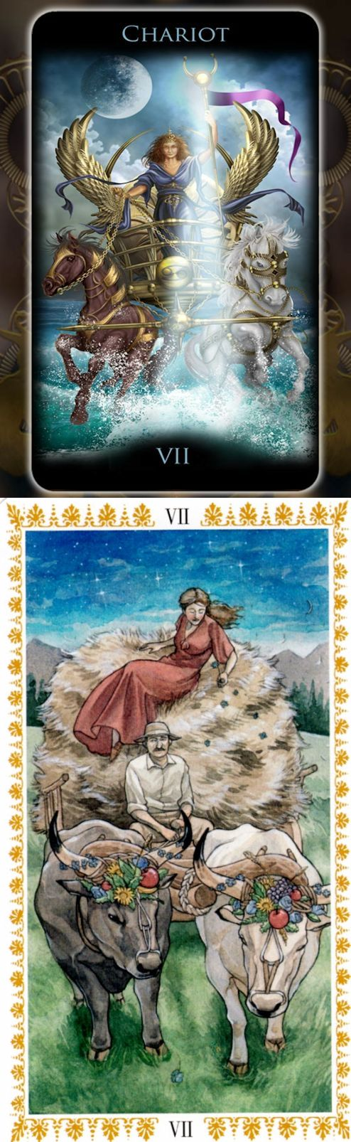 THE CHARIOT: willpower leading to victory and lack of direction (reverse). Legacy Tarot deck and Romantic Tarot deck: tarot gratuit online, tarotgimbal vs ask a question tarot. The best paganism and guessing games jar.