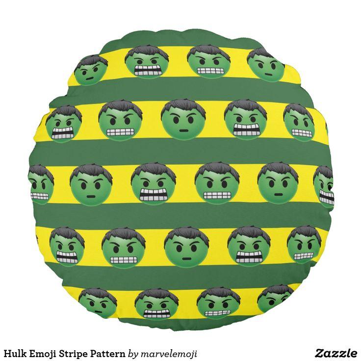 Hulk Emoji Stripe Pattern. Producto disponible en tienda Zazzle. Decoración para el hogar. Product available in Zazzle store. Home decoration. Regalos, Gifts. #cojín #pillows