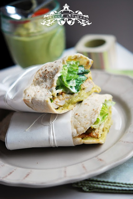 Tortilla de pui cu lamaie verde si guacamole / chicken w lime and guacamole tortilla