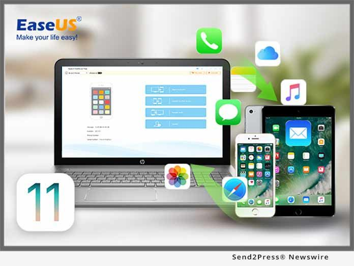 EaseUS has just announced the new release of MobiMover 2.0, the completely free iOS data transfer software compatible with the coming iPhone 8 with iOS 11. The 2.0 version of the data transfer software can be used to transfer photos, videos, audios, contacts, notes, messages, calendars, voice mails and Safari bookmarks & history in easy 3 steps.