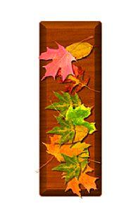 Buchstabe / Letter - I (Herbst / Autumn / Fall)