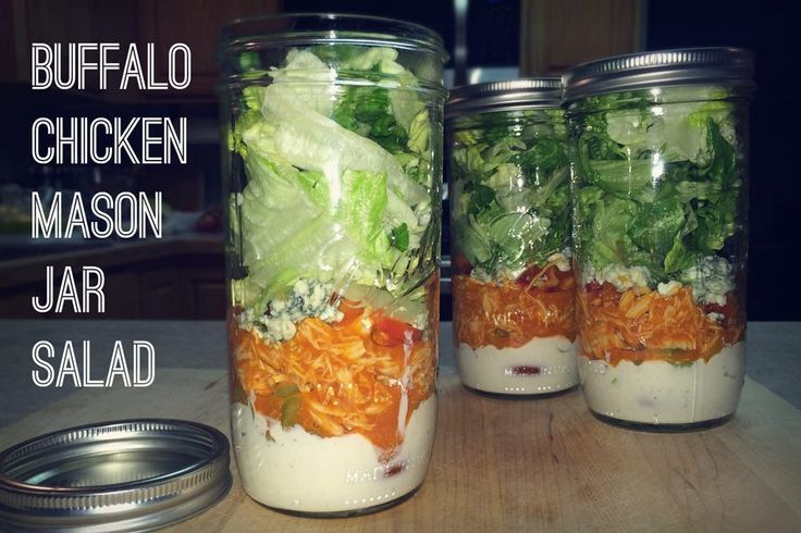 Buffalo Chicken Mason Jar Salad | Partners In Lifestyle
