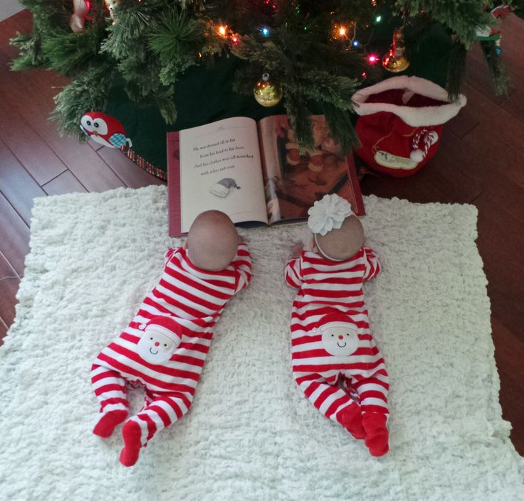 Twins at Christmas :) story time