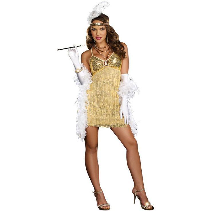 Fantasia Feminina Cabaret Burlesca Anos 20 Halloween Carnaval. Preço: R$79