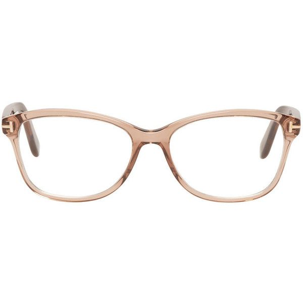 Tom Ford Brown TF5404 Optical Glasses ($355) ❤ liked on Polyvore featuring accessories, eyewear, eyeglasses, tom ford glasses, brown glasses, acetate glasses, tom ford eye glasses and rectangular eyeglasses