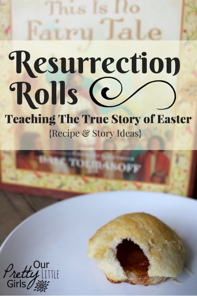 A simple resurrection roll recipe and story idea to bring the real story of Easter to life.