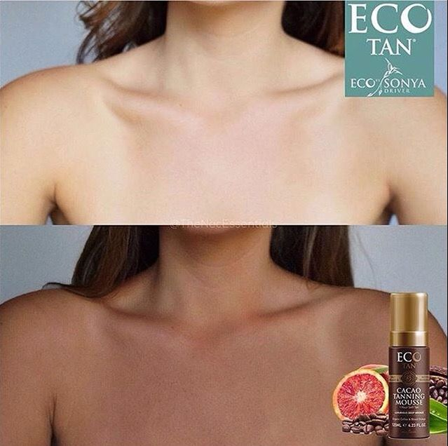 Look 👀 at this AMAZING difference 😍 Our Cacao Tanning mousse delivered this luxurious deep bronzed tan from only ONE application 🙌🏼 Our lightweight tanning mousse is extremely easy to apply and can be used on ALL skin tones 🙋🏼 We only use #certifiedorganic and #natural ingredients 😘 Our rich blend of 🍊 Blood Orange ☕️ Coffee and 🌻 Ginger promotes silky smooth skin, as well as achieving the DARKEST glow ✨ possible!!