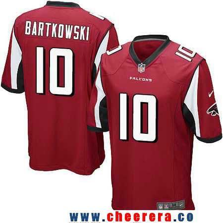 Men's Atlanta Falcons #10 Steve Bartkowski Retired Red Team Color Stitched NFL Nike Game Jersey