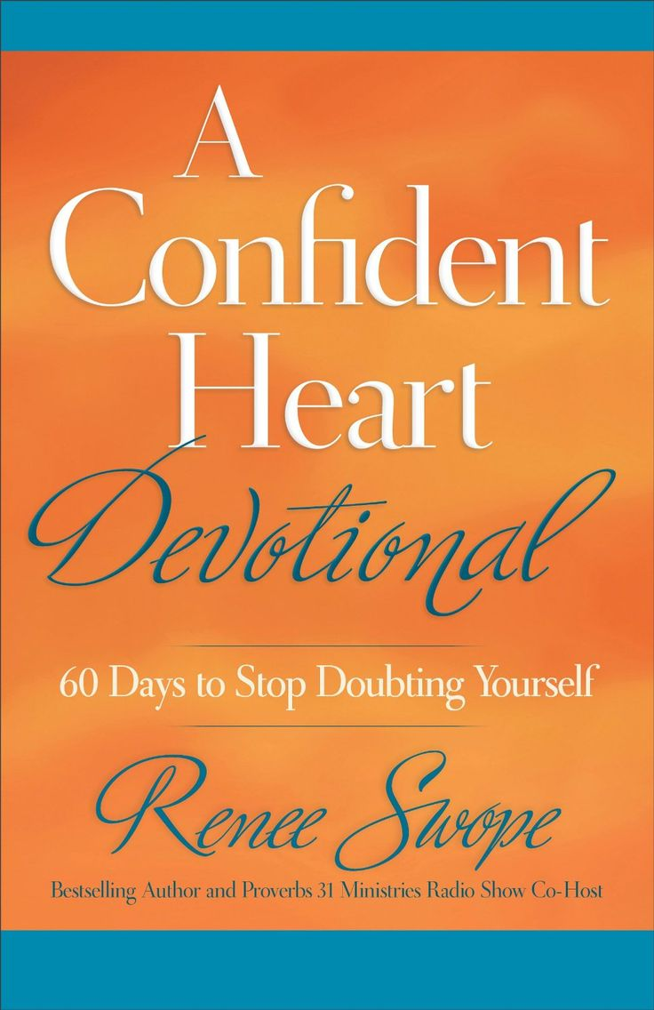 """A Confident Heart Devotional: 60 Days to Stop Doubting Yourself by Renee Swope. Built on the hope-infusing truths found in the 2012 Retailer's Choice Winner, A Confident Heart, Renee Swope's new 60-day devotional takes women on a journey toward lasting confidence. Swope has expanded her popular """"When I say--God says"""" statements and Scriptures, and offers women a daily thought-map to help them exchange their most common and crippling self-doubts with God's transforming truths."""