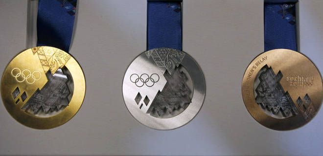 The 2014 Sochi Olympic Medals - can't wait!