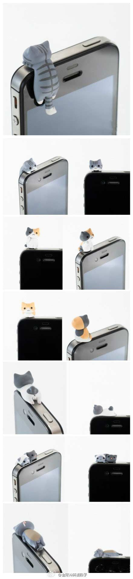 iCat [Earphone Jack Cover/ Plug] for iPhone | iCat