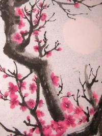 blossoming cherry tree painting | Cherry Blossom Tree Tattoo
