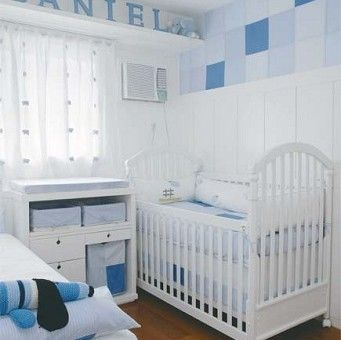 Decoração de quarto de bebê pequeno masculino
