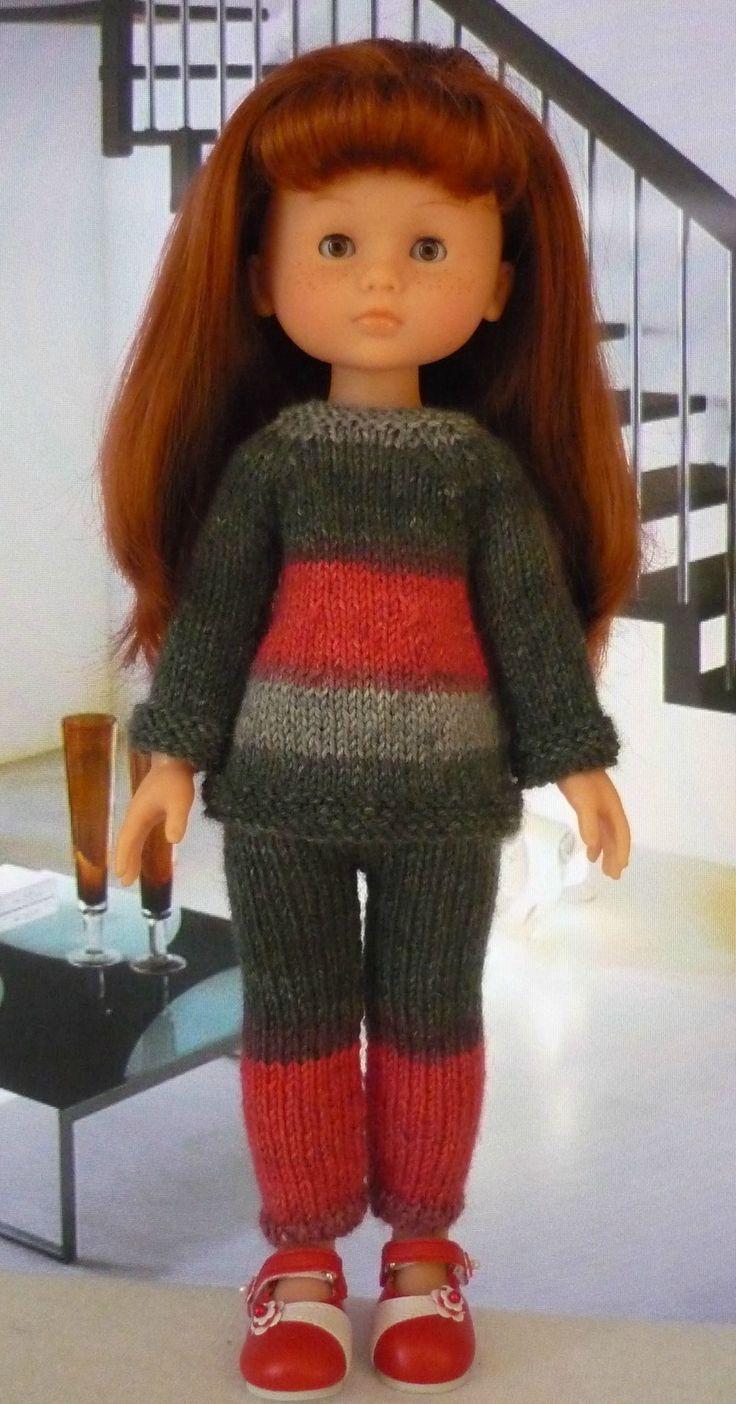 Ensemble pour poupée Chérie Pull et pantalon: 1) http://marieetlaines.canalblog.com/archives/2013/09/10/27336443.html 2) http://p8.storage.canalblog.com/82/41/1066432/89704765.pdf