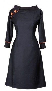 Ecouture by Lund - Jeanett- dress black Wool   rockabilly 50'th style dress