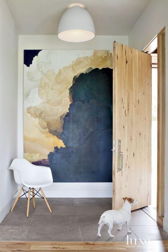art, abstract art, mcm, mid century modern, statement piece, entry way