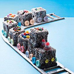 lamington train party treats