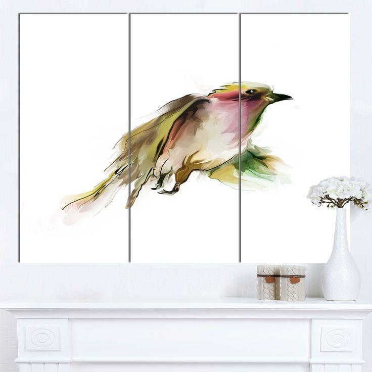 DESIGN ART Designart 'Nice Flight of Wild Bird on ' Modern Animal Canvas Wall Artwork