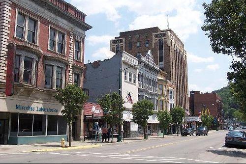 Beautiful Downtown Bradford, Pennsylvania where Matt and Kelsey live :)