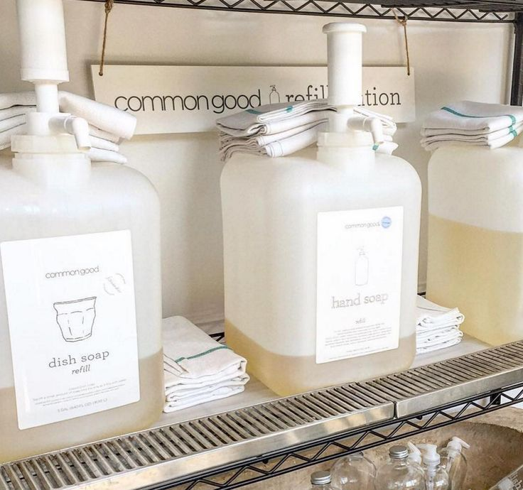 Refill Station For Bulk Zero Waste Cleaning Supplies By Common Good Loving The Look Of The Josephandco Zero Waste Store Zero Waste Grocery Store Bulk Store