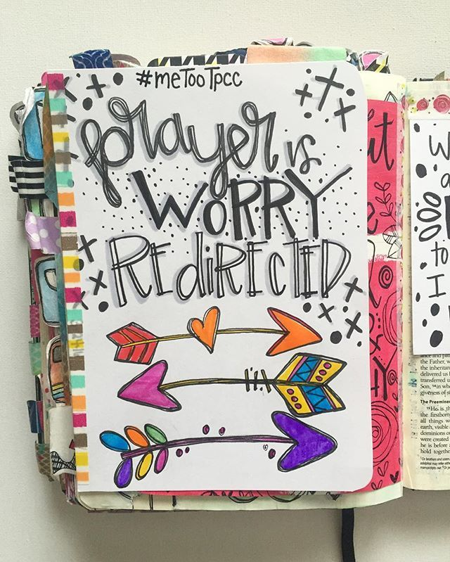 Bible Journaling by Trudy Barker @colorsoffaith | Philippians 4