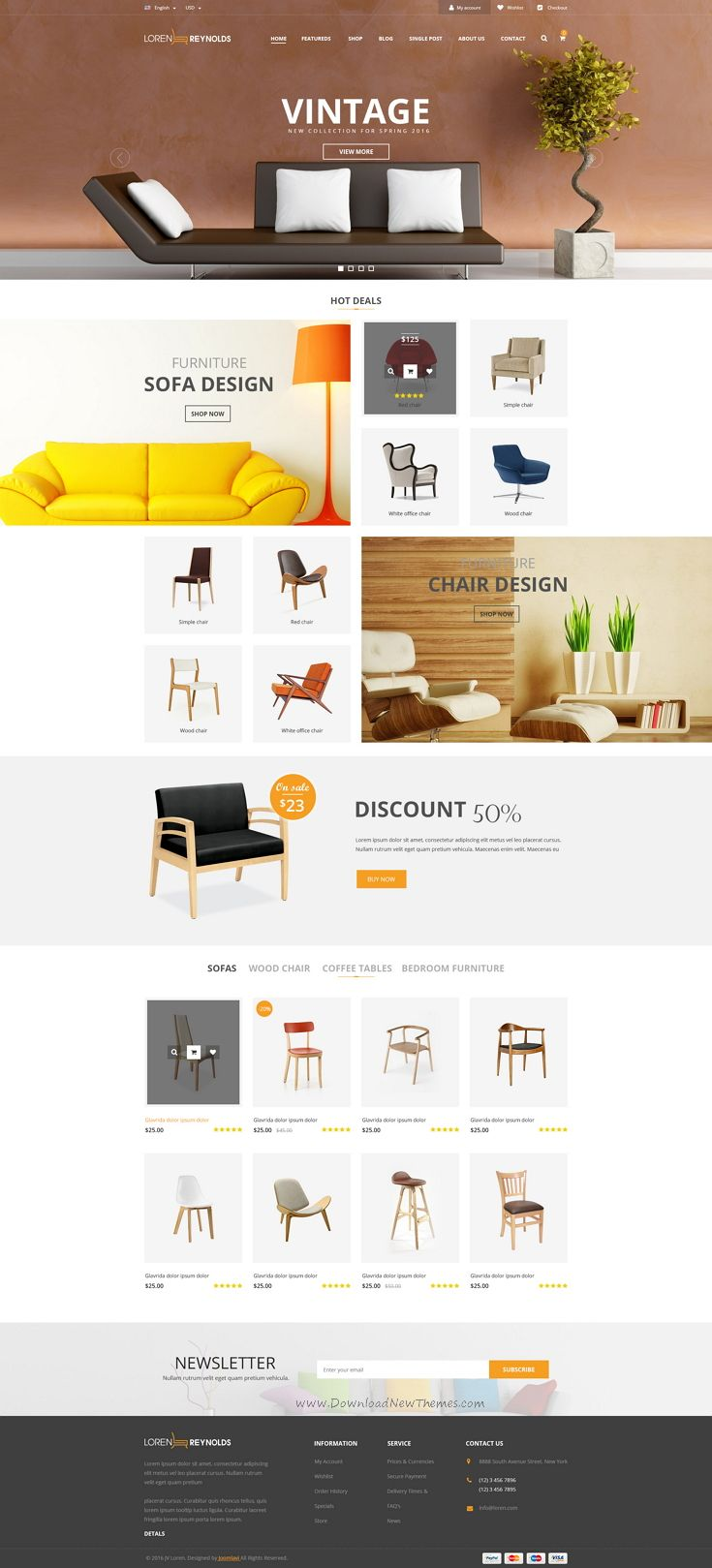 Loren is Multipurpose PSD Template with awesome design ideal for any type of business #website of Creative Corporate, News, Creative Blog, Organization, Community. #furniture #shop