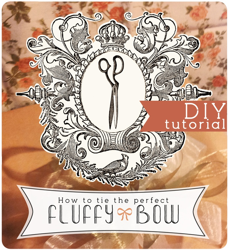 shimmer and glow: Tutorial: How to tie the perfect fluffy bow.