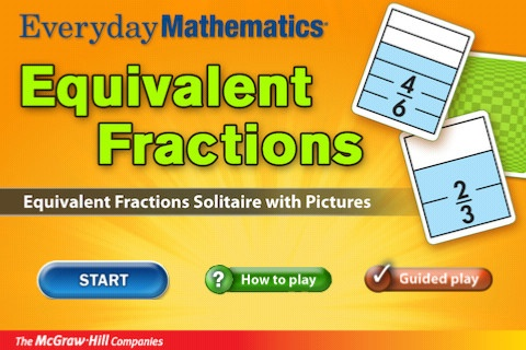 $0.00 (Reg. 1.99) Everyday Mathematics® Equivalent Fractions™  By McGraw-Hill School Education Group. FREE THIS WEEK - in honor of teacher appreciation week.