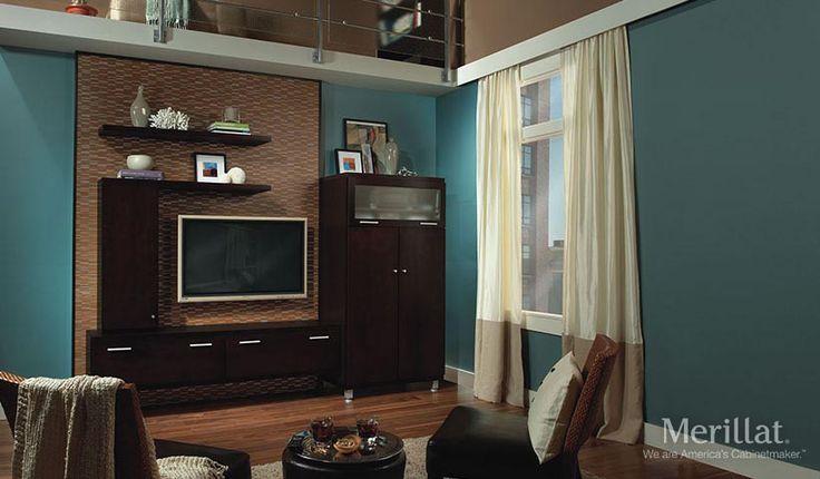 Epic Home Entertainment- Merillat. Slab door cabinets