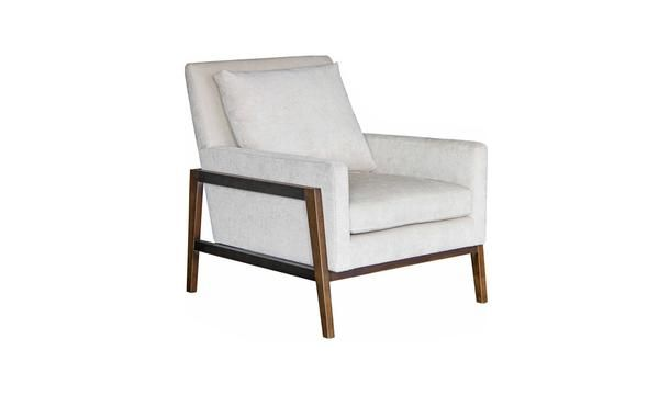 With its thickly padded seat and comfy separate back cushion, the Cooperiscomfortable but sophisticated. The wooden dark walnut frame makes you think of the D