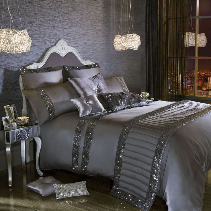 Kylie Minogue OCTAVIA Grey Bedding / Bed Linen Range #KylieMinogue #Contemporary
