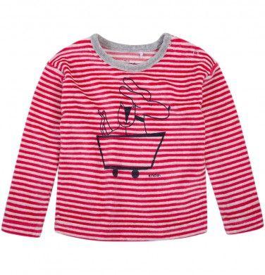 Bluza welurowa dla niemowlaka, kolekcja: Mini Endo paski