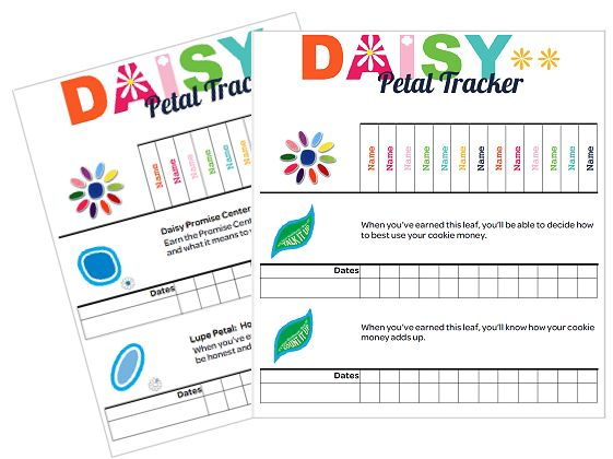 I am Girl Scouts: Daisy Petal and Leaf Tracker