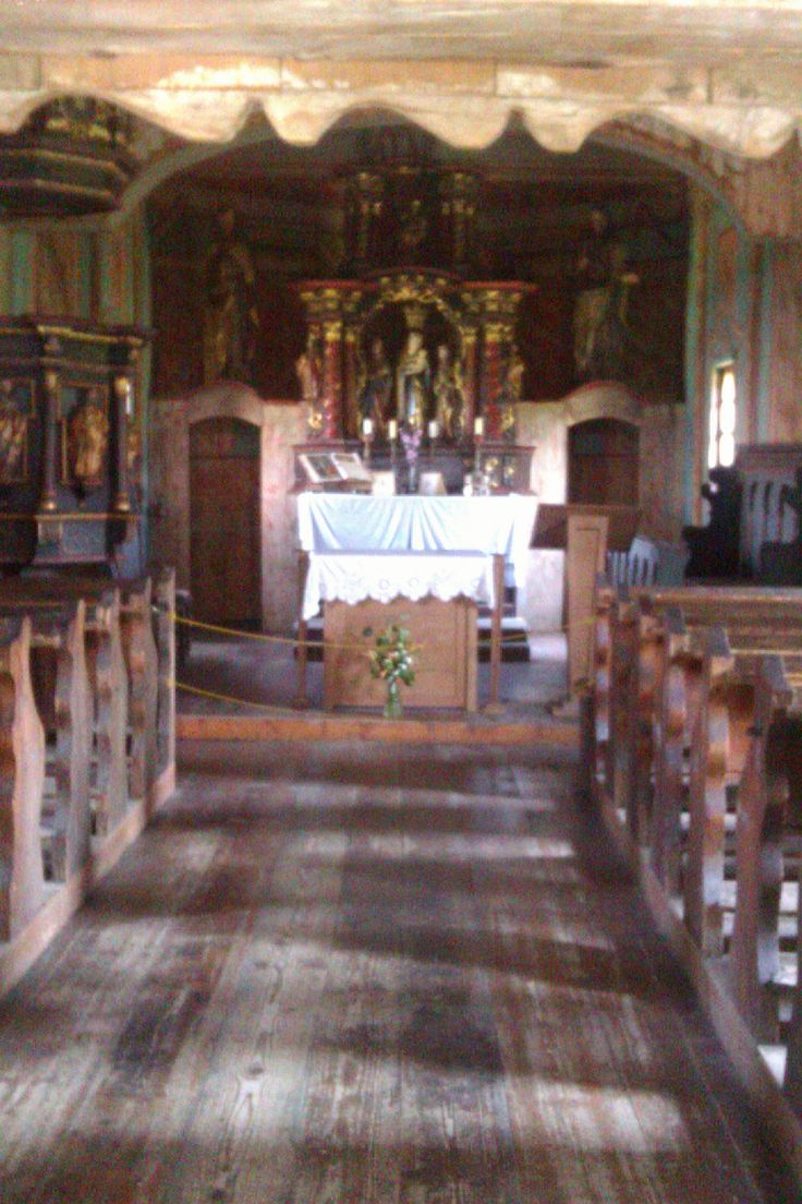 Inside church from wood Martin Slovakia