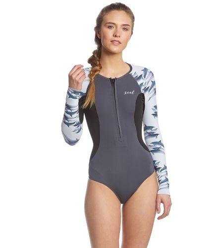 948cbee9e8 Xcel Women's Ocean Ramsey Axis 1.5MM Long Sleeve Front Zip Spring ...