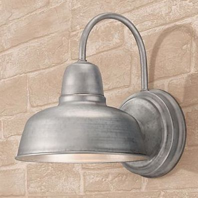 11 best cobblestone outdoor lights images on pinterest exterior urban barn 11 14 high galvanized indoor outdoor wall light style w4595 aloadofball Images