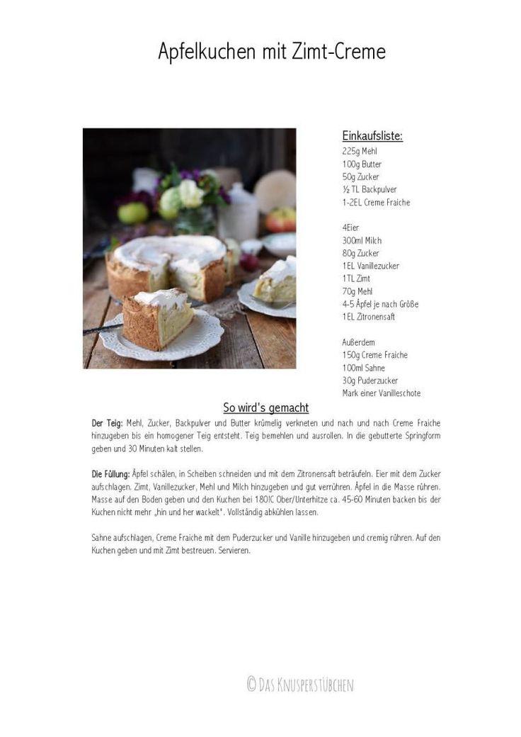 Apfelkuchen mit Zimtcreme - Apple Cake with Cinnamon