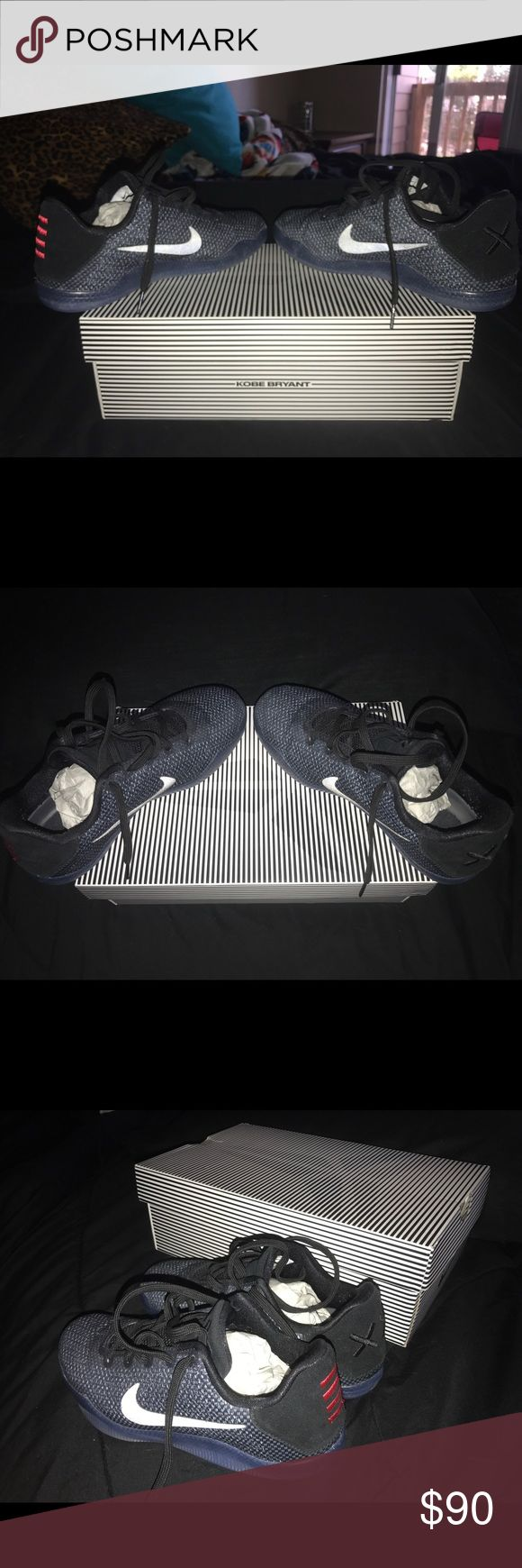 Youth KOBE 11's Worn no more than ten times, gently taken care of, used only on court floor, Nike Shoes Sneakers