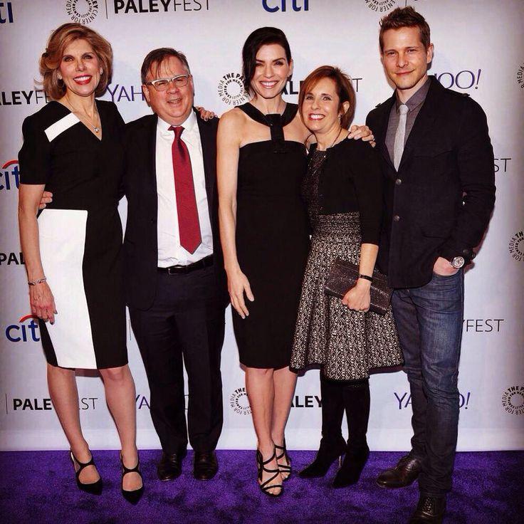 The Goodwife writers, JuliannaMargulies, ChristineBaranski, and MattCzuchry at PaleyFest